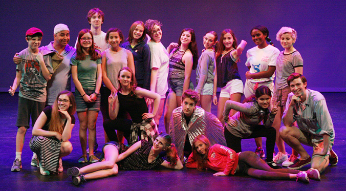 Grade 8&9 Summer Drama Camp students perform their final presentation on YPT's Mainstage.