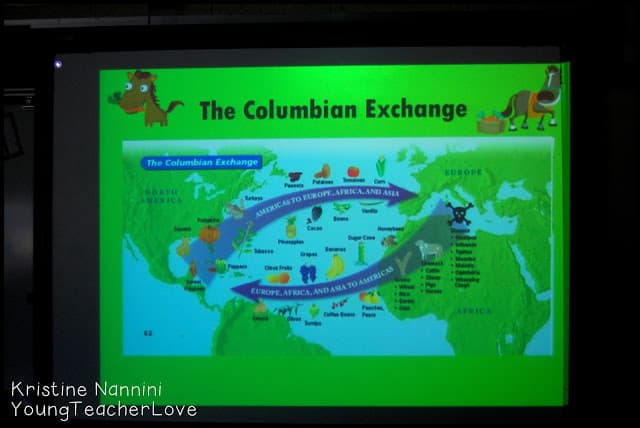 Social Studies Freebies and Ideas- The Columbian Exchange - Young