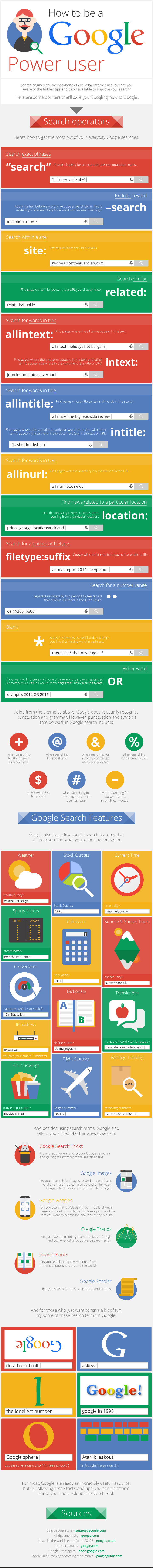be a Power User in Google Search