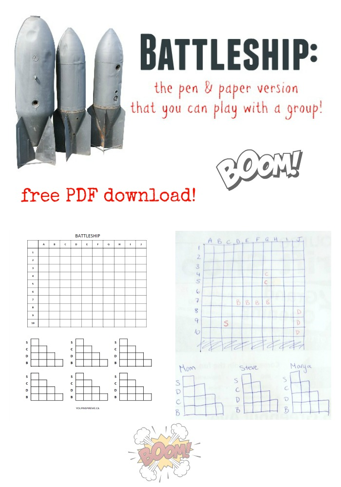 How to Play Battleship on Paper (More than 2 can play!) You