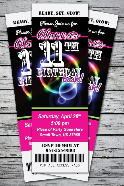 ticket birthday party invitations - Onwebioinnovate