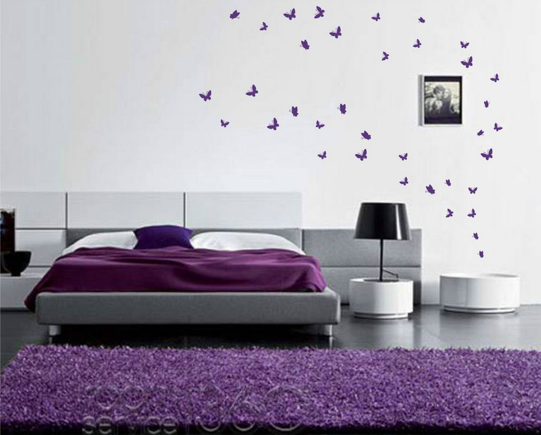Butterfly Bedroom Themes Butterfly Wall Stickers And How To Use Them In Different