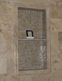 Ceramic Tile Shower Niche | Interior Design Ideas