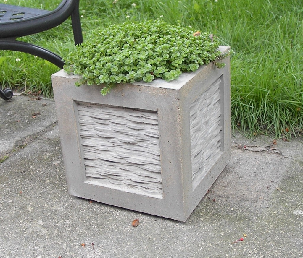 Concrete Garden Planters Concrete Flower Pots And The Right Way To Use Them