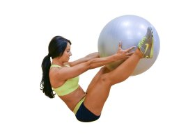 Exercise Ball with Pump, GYM QUALITY Fitness Ball by DynaPro Direct. More colors and sizes available aka Yoga Ball, Swiss Ball