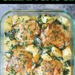 Chicken and Potatoes with Garlic Parmesan Cream Sauce