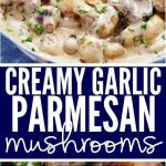Creamy Garlic Parmesan Mushrooms