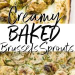 CREAMY BAKED BRUSSELS SPROUTS