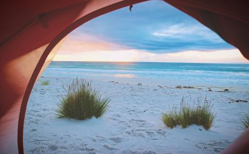 camping beach