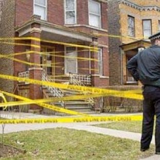 """An image of South Chicago, in the context of the continued killings and illustration of the Shakespearean line, """"...a man's life's no more than to say 'One.'"""""""