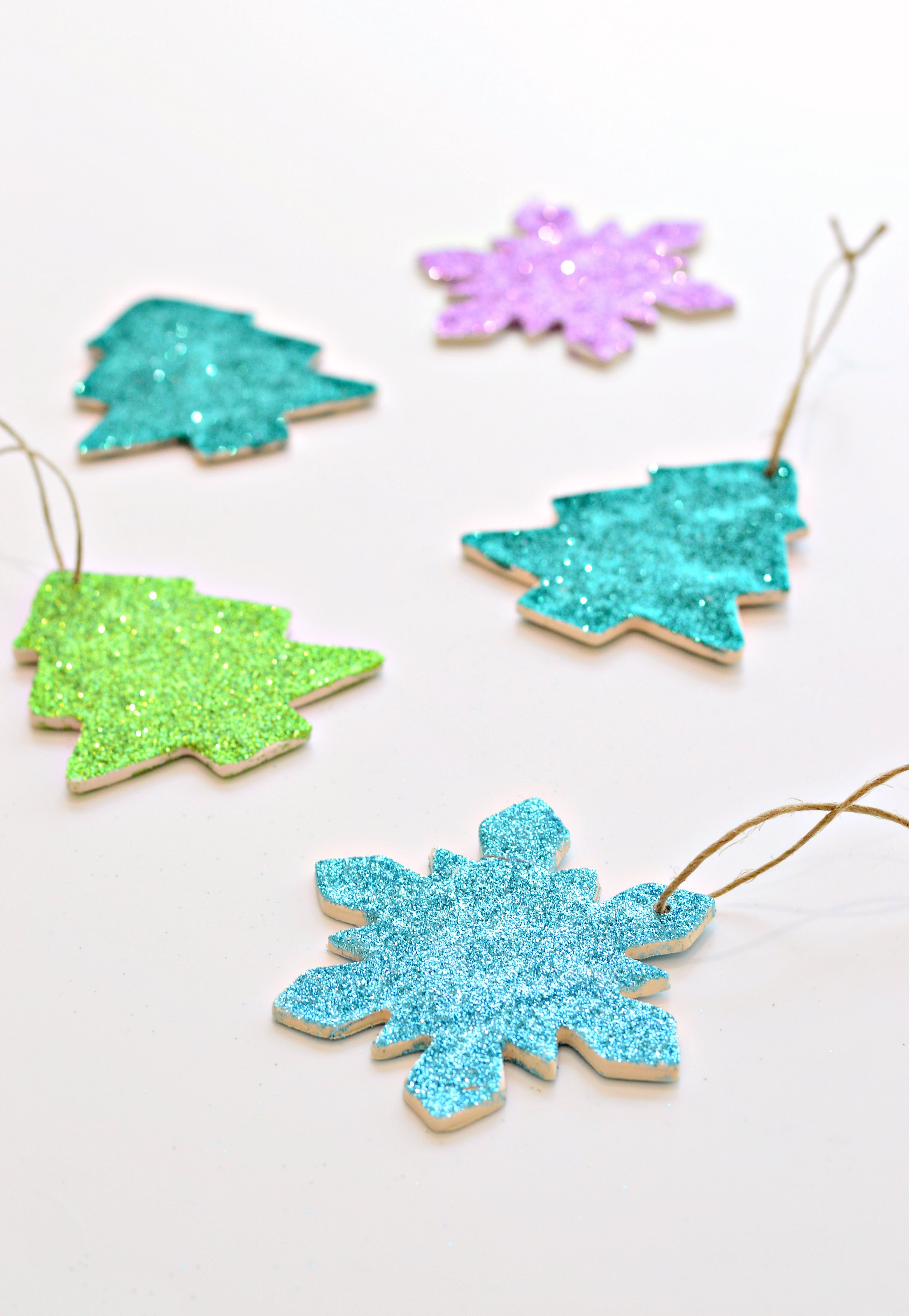 Diy Clay And Glitter Christmas Ornaments With Video Diy Home Decor Your Diy Family