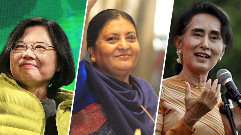 women-world-leaders-taiwan-nepal-myanmar-2016