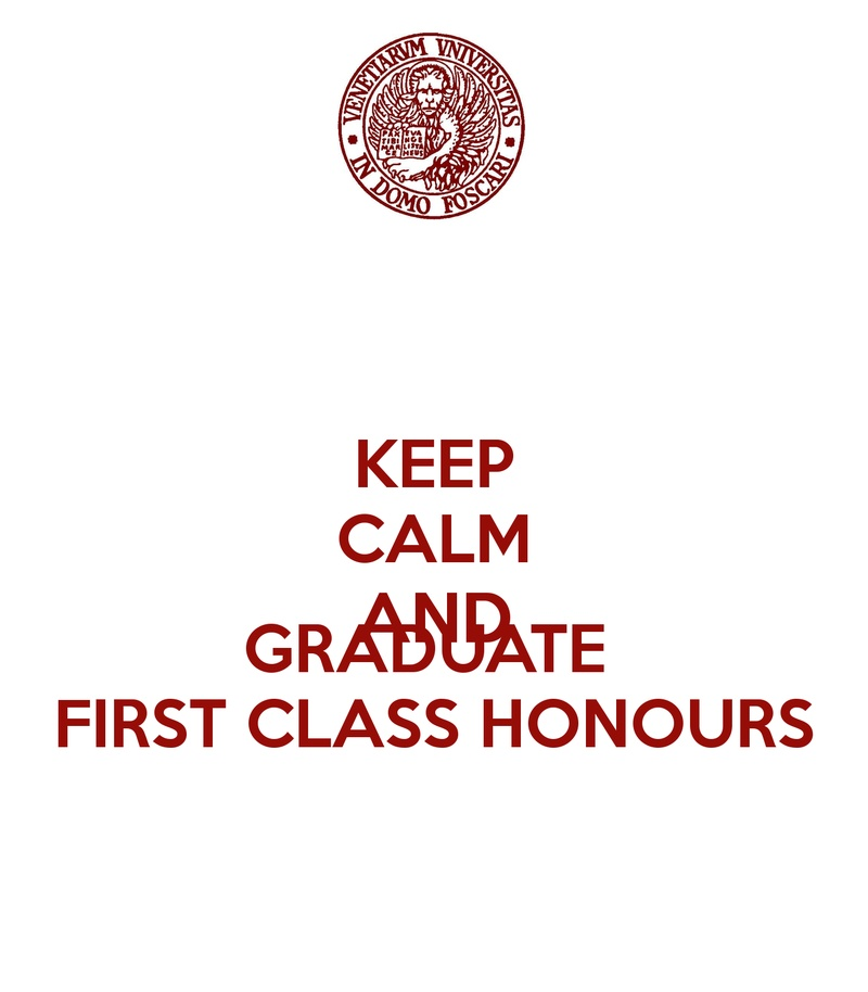 Bucketlist » Graduate from university with a first class honours