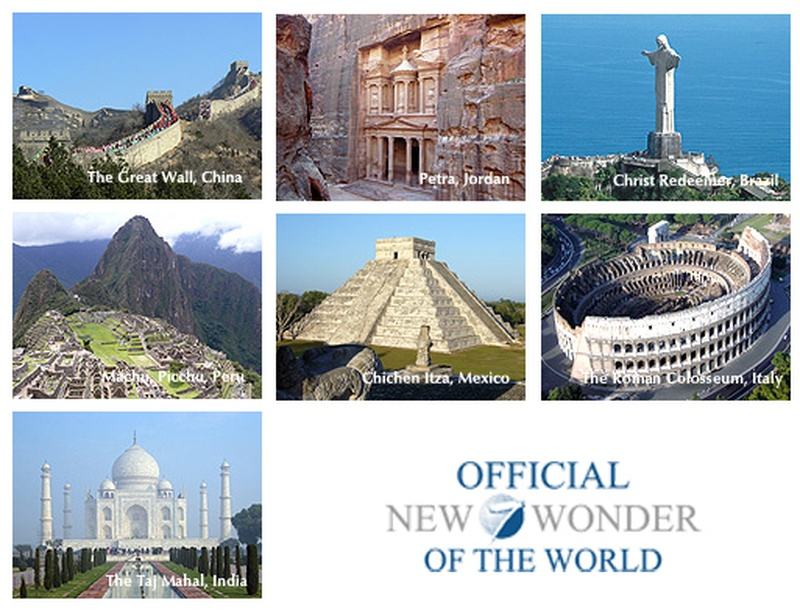 Bucketlist » See the 7 wonders of the world (Official Bucket List)