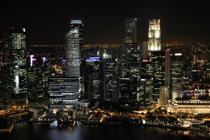 Impressive Singapore Skyline at Night