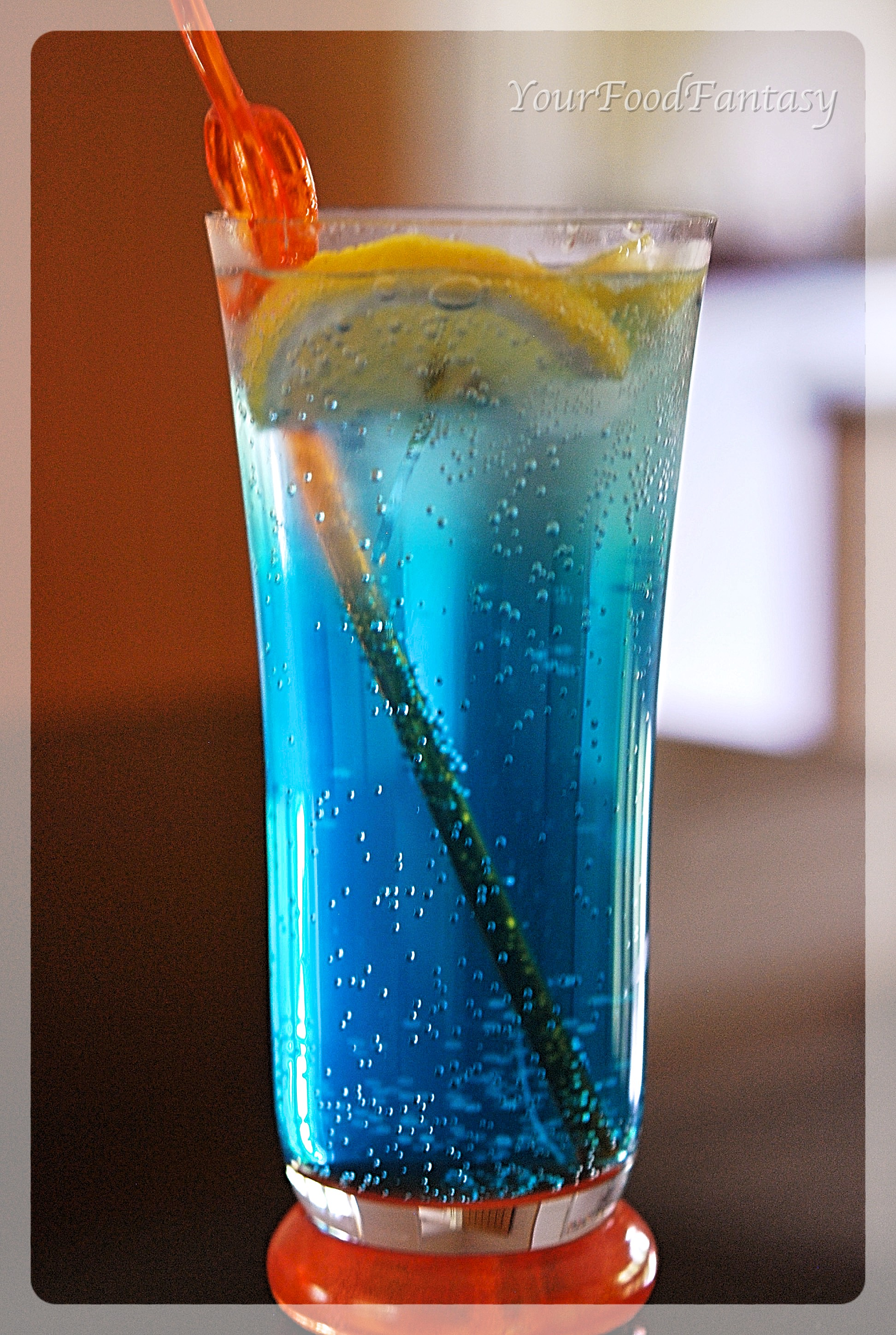 Blue Curacao Cocktail Alkoholfrei Blue Lagoon Mocktail Recipe Your Food Fantasy