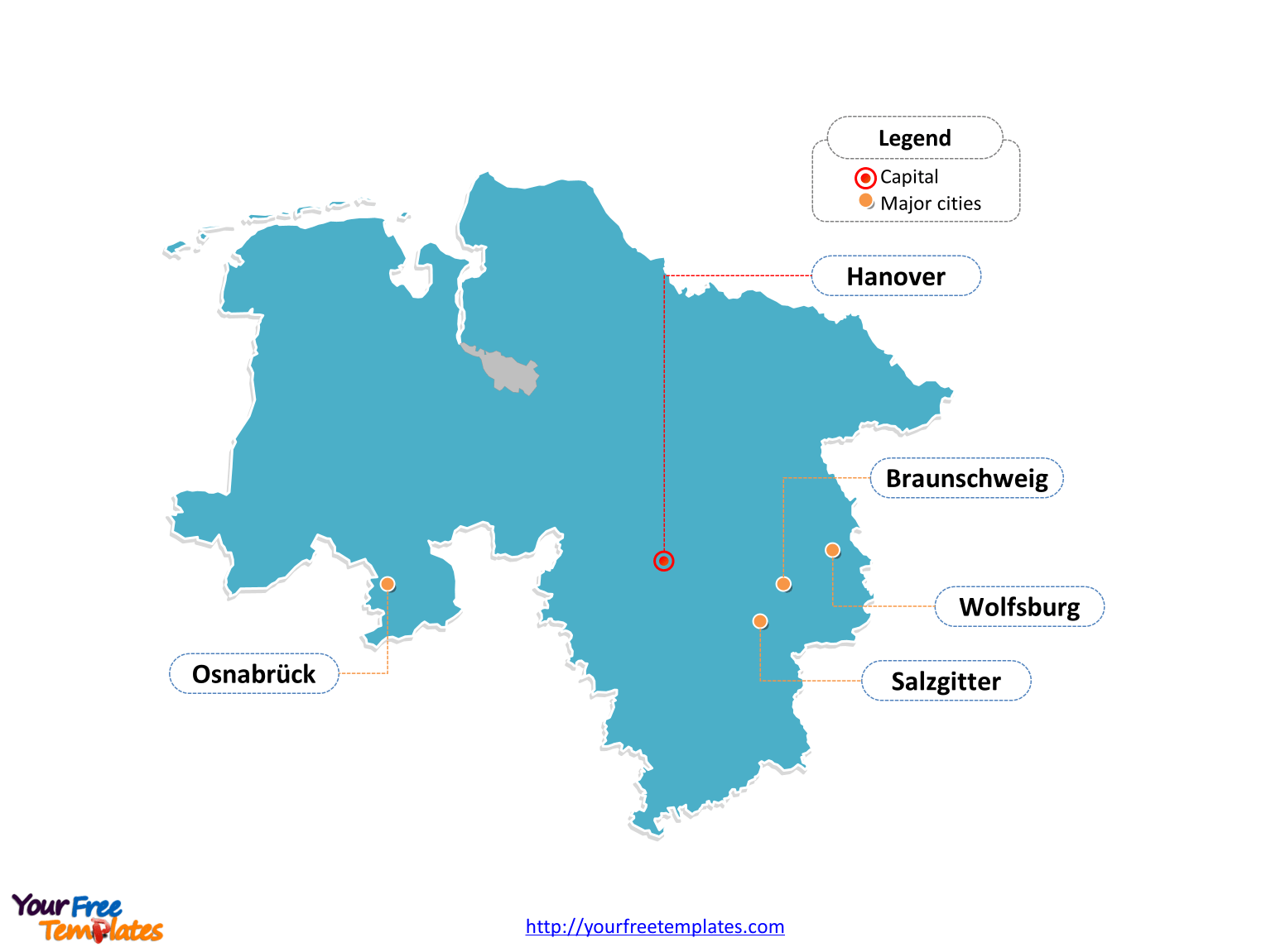 Maps Oldenburg Free Lower Saxony Map Template Free Powerpoint Templates