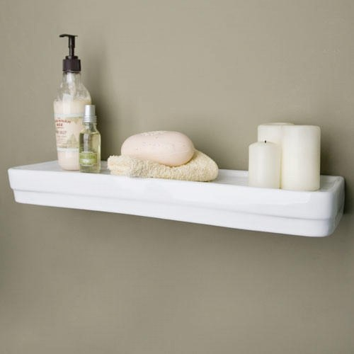 Medium Of White Shelves Bathroom
