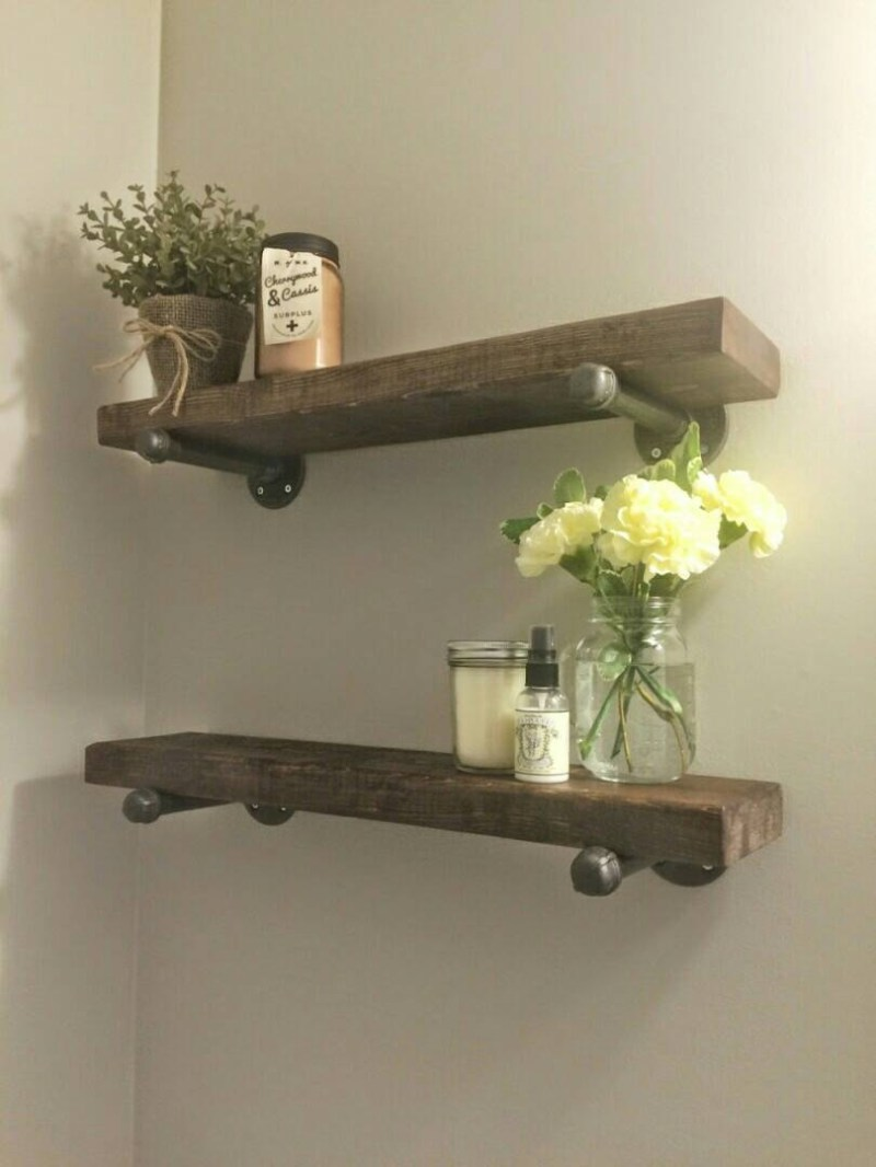 Large Of Wooden Shelf For Bathroom