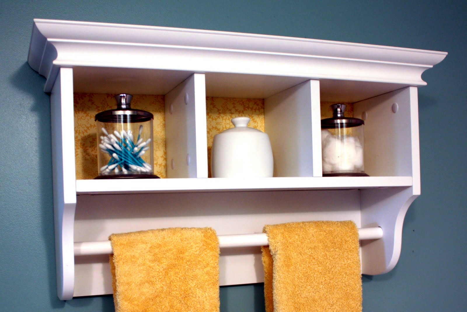 White Bathroom Cabinet With Towel Bar - Veterinariancolleges
