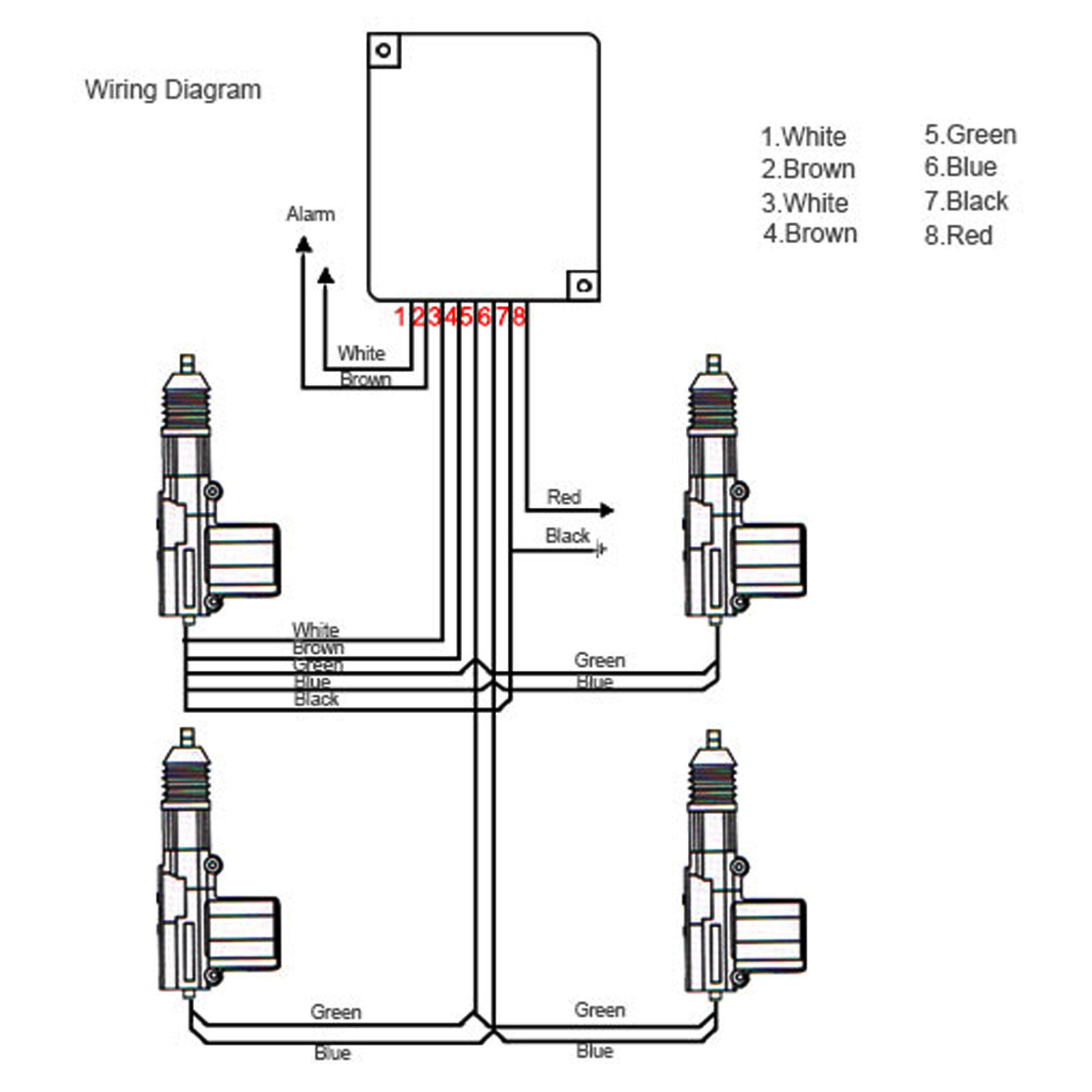 wiring diagram for biltek car door locks