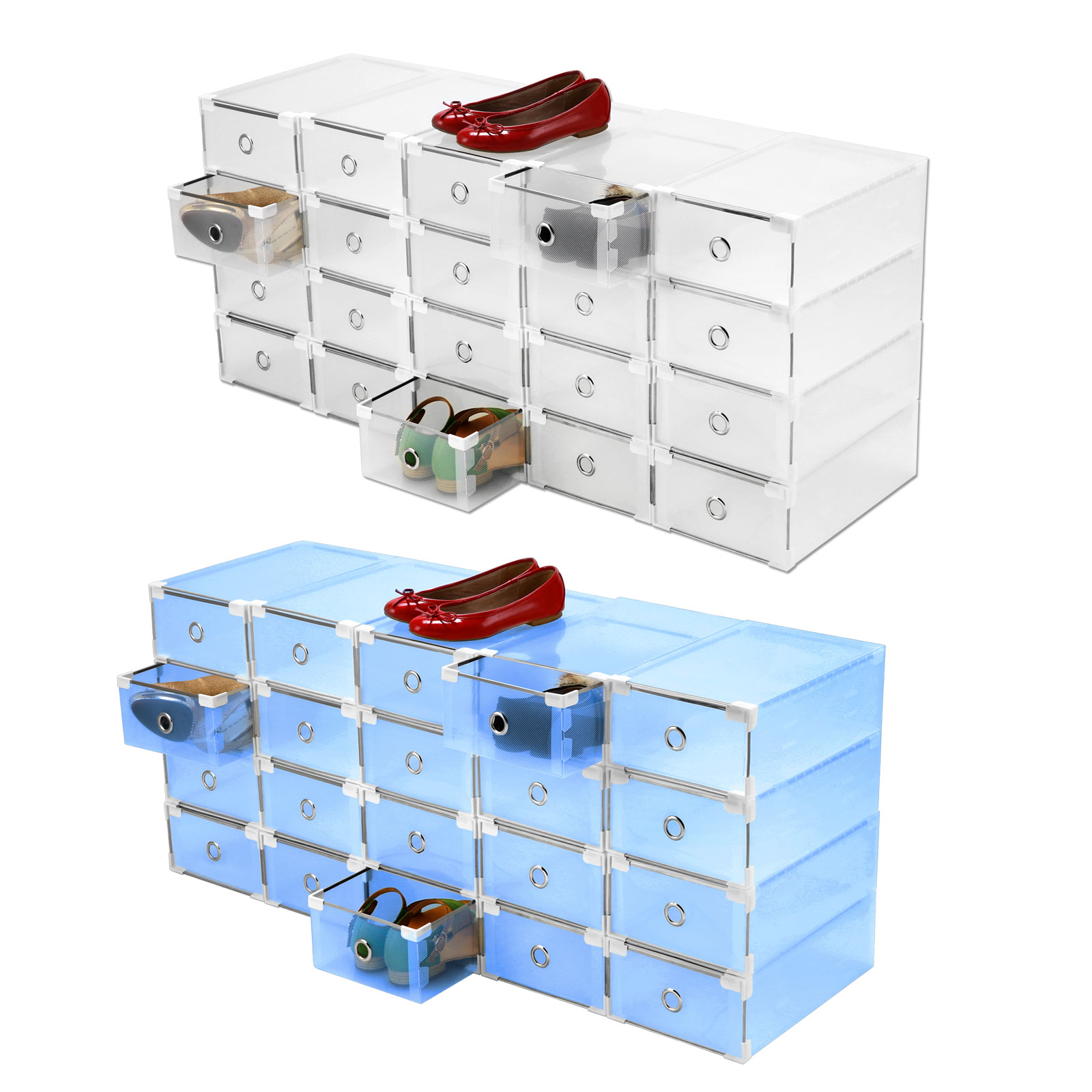 Shoe Box Australia 20 40 60pcs Clear Plastic Shoe Box Drawer Tray Container