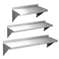 600 900 1200mm Stainless Steel Wall Shelf With Brackets ...