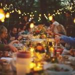 outdoor harvest dinner
