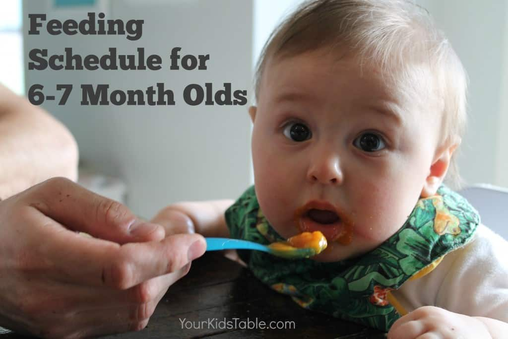 The Best 6 and 7 Month Old Feeding Schedule - So Easy to Follow - schedules for babies