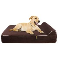 "Extra Large 7"" Orthopedic Memory Foam Dog Bed With 3 ..."