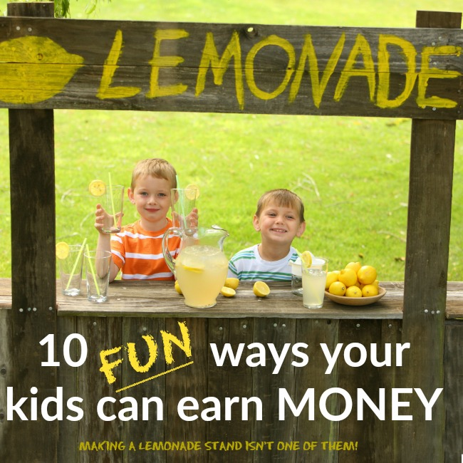 How kids can raise money (more than just a lemonade stand) - Your