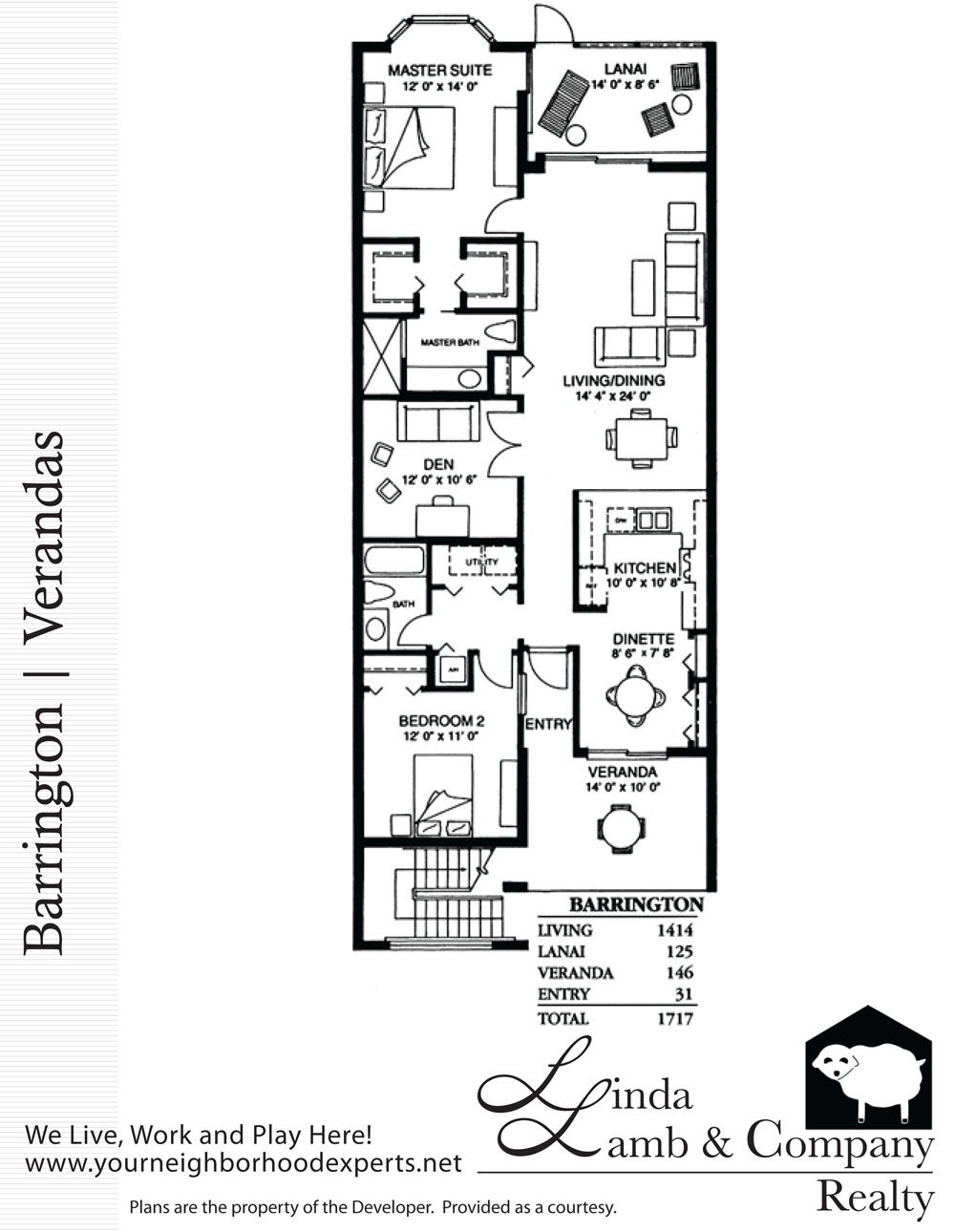 Plan Veranda Barrington Veranda Floor Plan Heritage Palms Linda Lamb