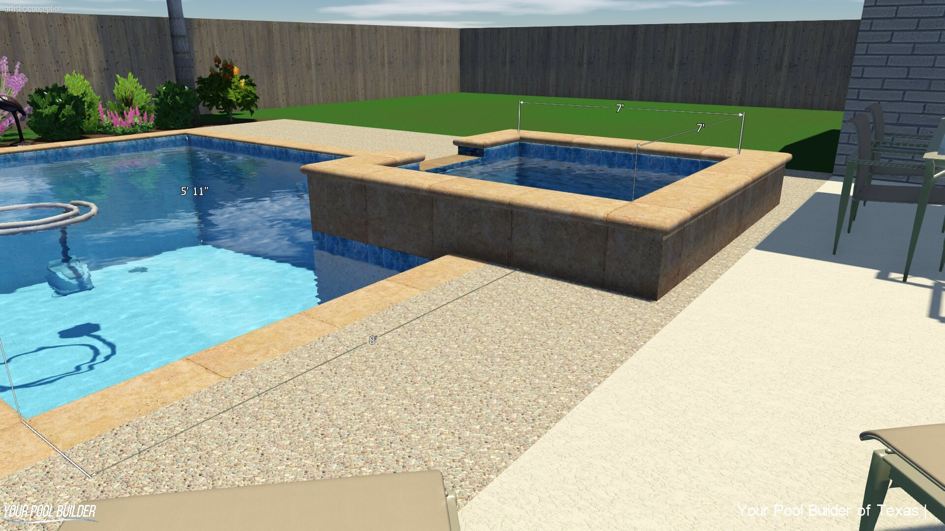 Jacuzzi Pool In Ground Inground Pool Upgrades Cost Texas Swimming Pool Construction Prices