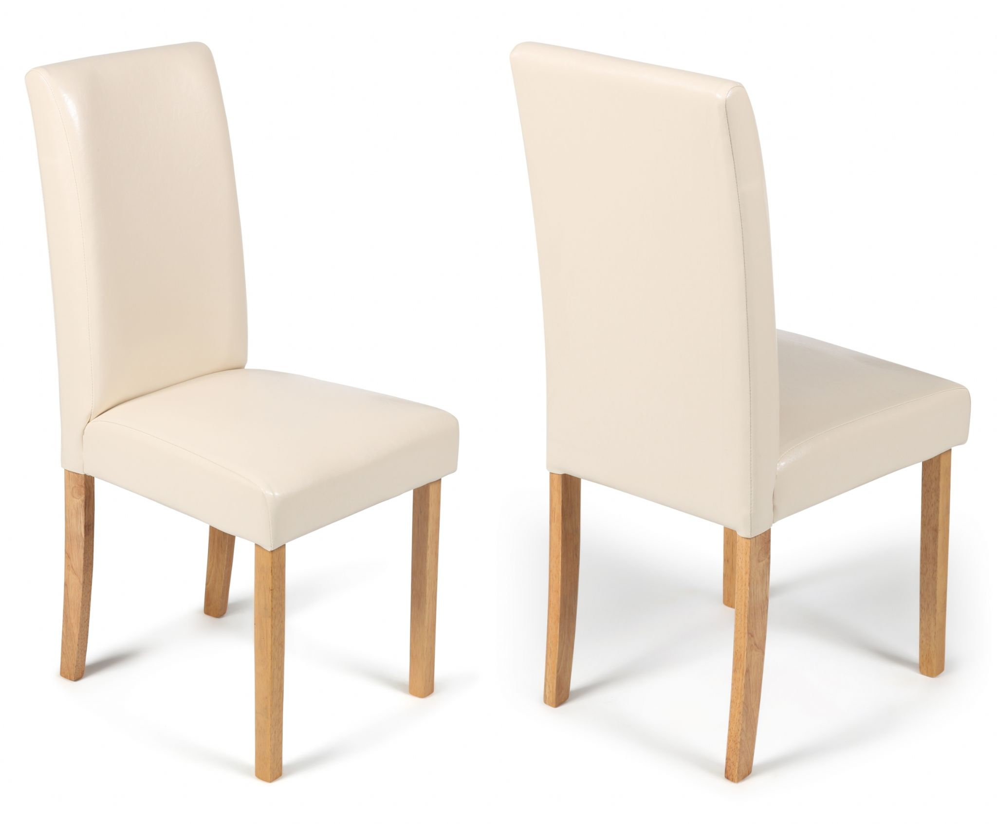 Cream Leather Dining Chairs Torino Cream Faux Leather Dining Chairs 1 2 Price Sale Now