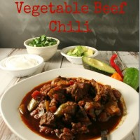 Low-Carb Spicy Chunky Vegetable Beef Chili #SundaySupper