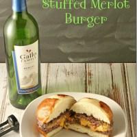 Pimento Cheese Stuffed Merlot Burger #SundaySupper