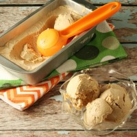 No Churn Low Carb Peanut Butter Coffee Ice Cream #IceCreamWeek