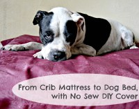From Crib Mattress to Dog Bed, with No Sew DIY Cover ...