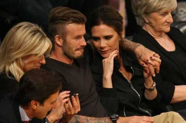 David Beckham Kissing