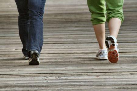 Walkers' Feet - Man Woman Walking