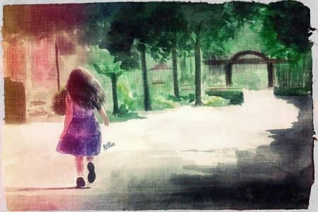 little-girl-garden