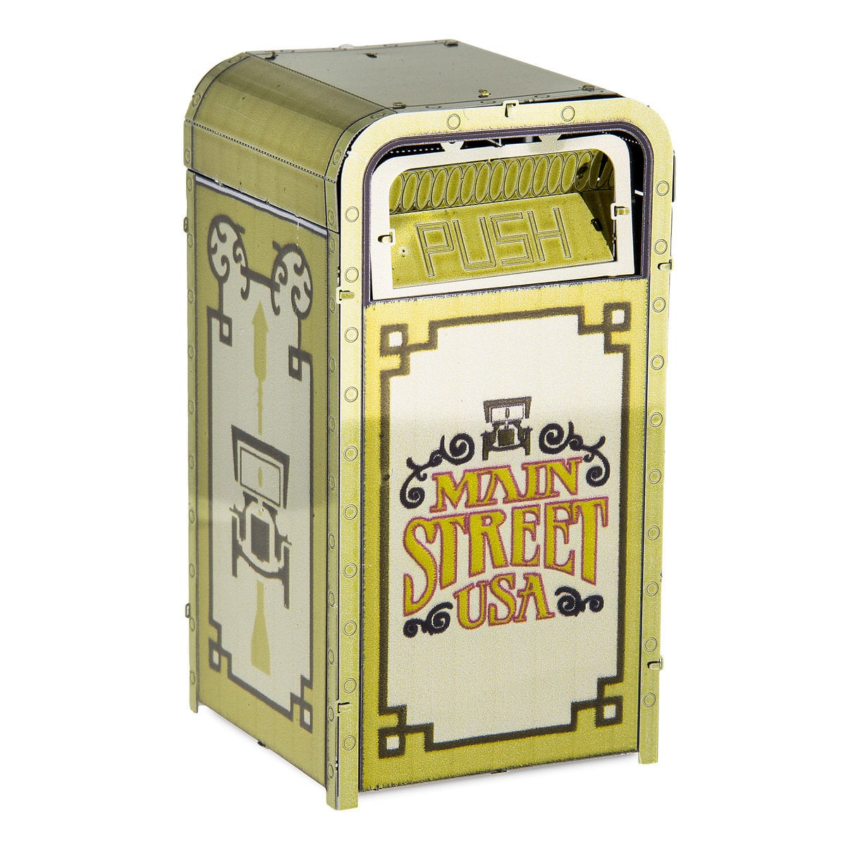 Fun Trash Can Disney 3d Model Kit Metal Earth Park Icon Main Street Trash Can