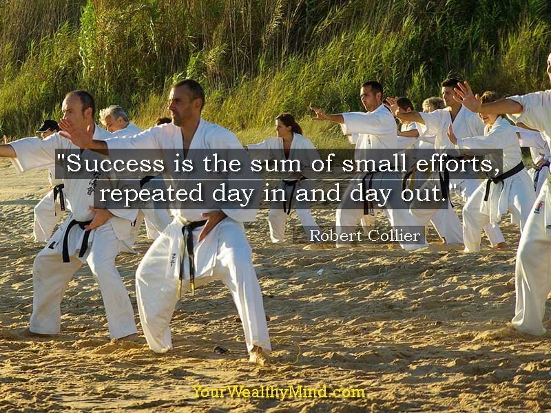 """""""Success is the sum of small efforts, repeated day in and day out."""" - Robert Collier"""