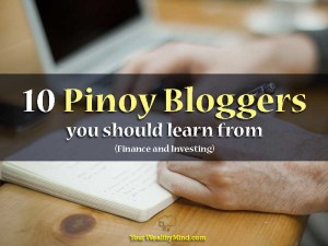 10 Pinoy Bloggers you should learn from (Finance and Investing)