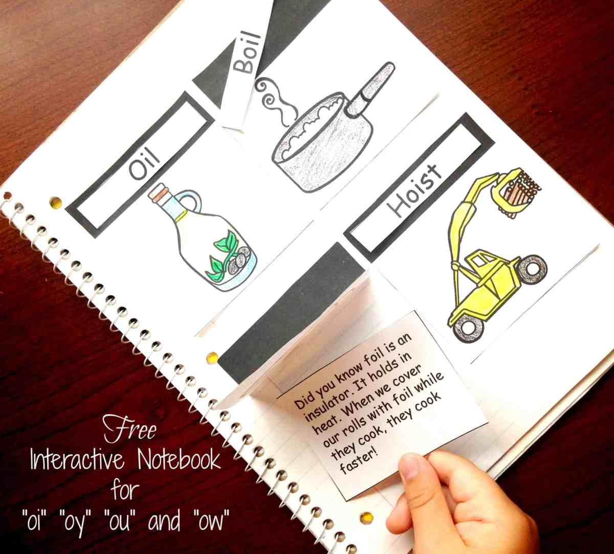 How to Teach Diphthongs with an Engaging Interactive Notebook