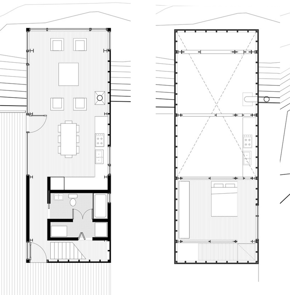 House Plan Drawing Characteristics Of Simple Minimalist House Plans