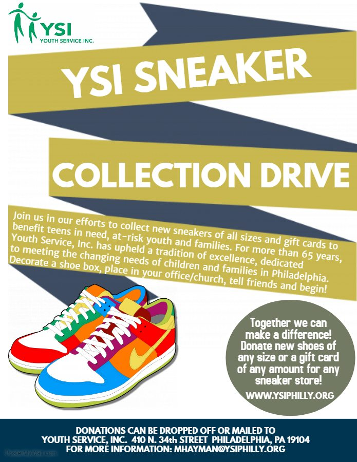 Youth Service, Inc Launches Sneaker Drive Fundraiser to benefit at
