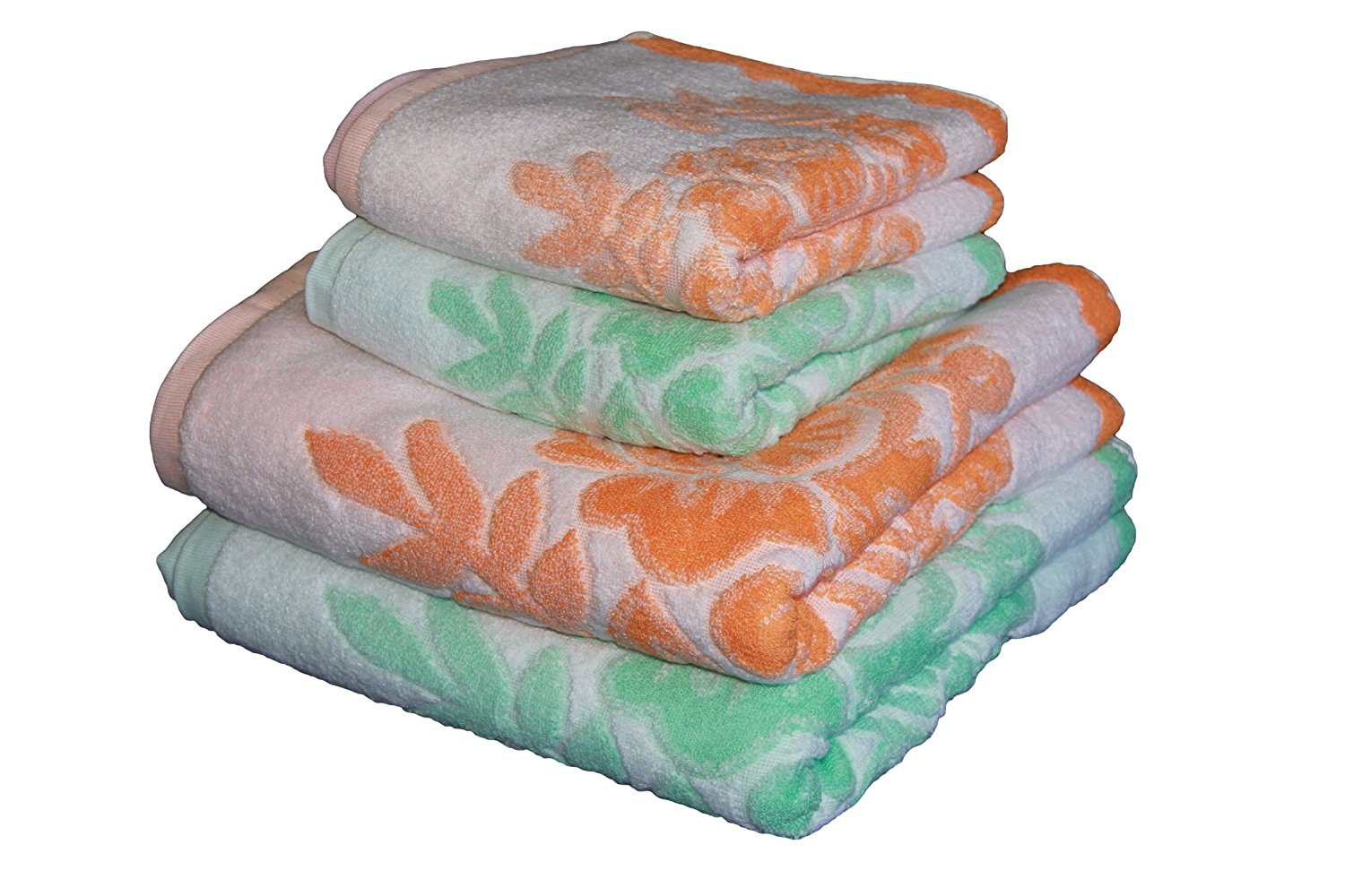 Handtücher Orange Ysn Home Collection Ysn11 4 Teiliges Handtuchset Grün
