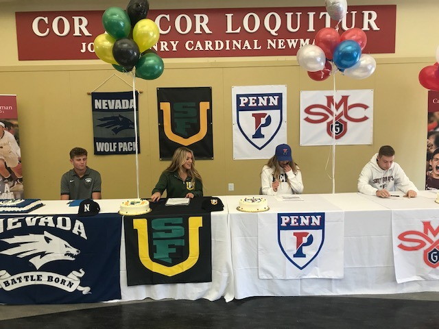 VIDEO- National Letter Of Intent Signing Day at Cardinal Newman