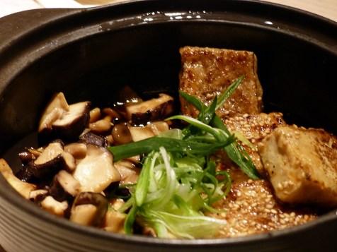 tofu with mushrooms at Sake no Hana   ytTastes   Yvanne Teo